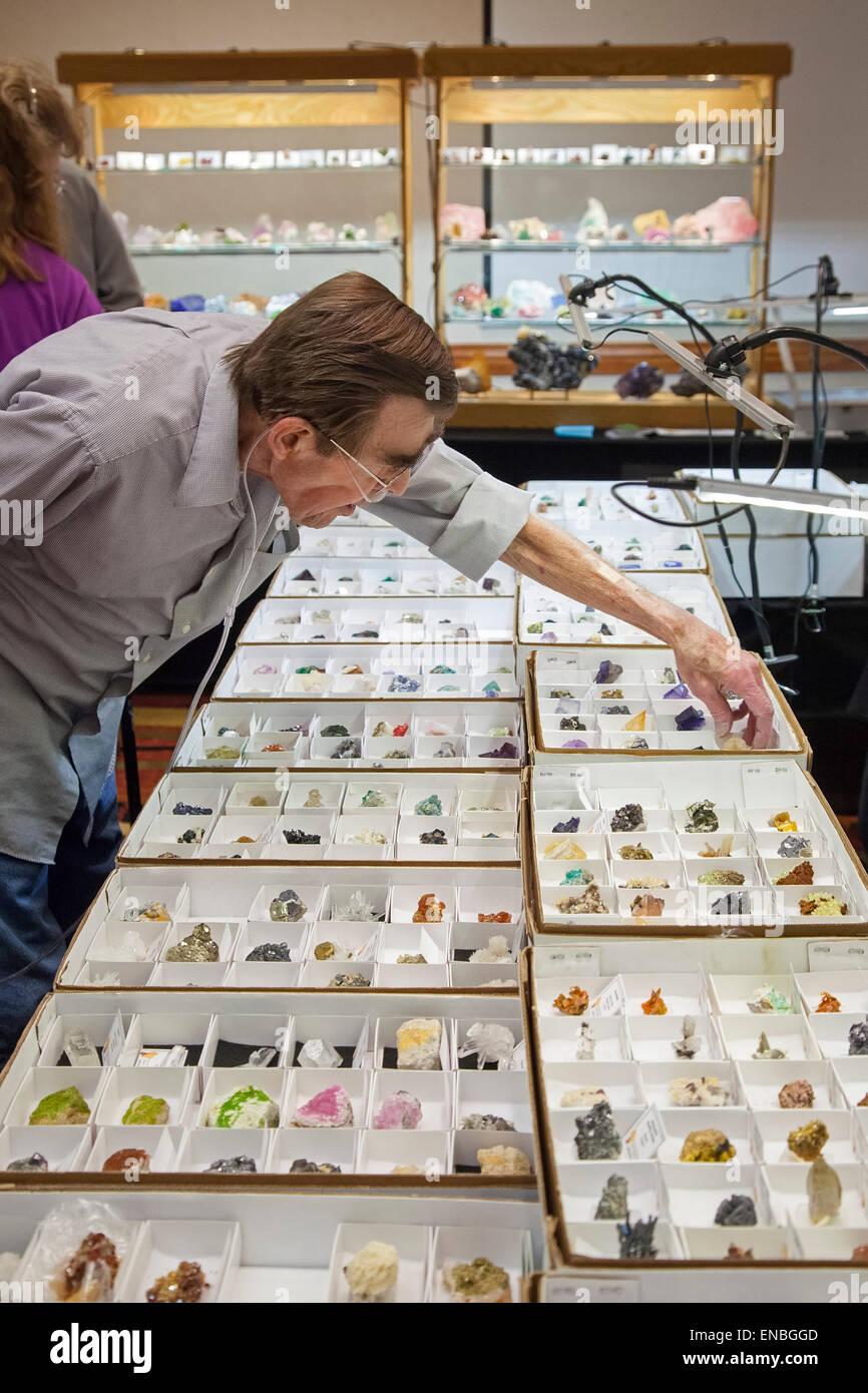 Denver, Colorado - The Colorado Mineral and Fossil Show. - Stock Image
