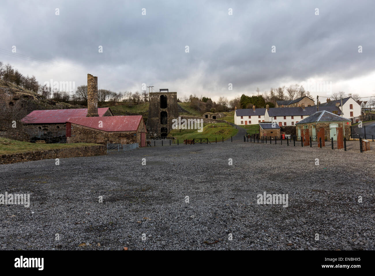 Blaenavon Ironworks is a former industrial site which is now a museum in Blaenavon in Wales. Stock Photo