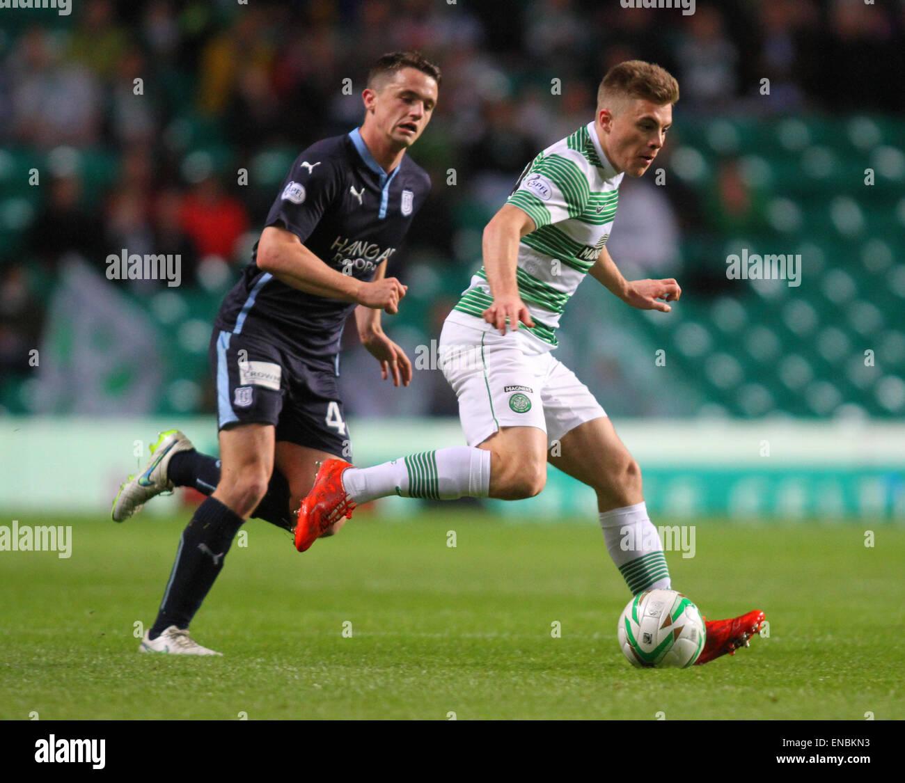 Glasgow, Scotland. 01st May, 2015. Scottish Premiership. Celtic versus Dundee. James Forrest and Thomas Konrad Credit: - Stock Image