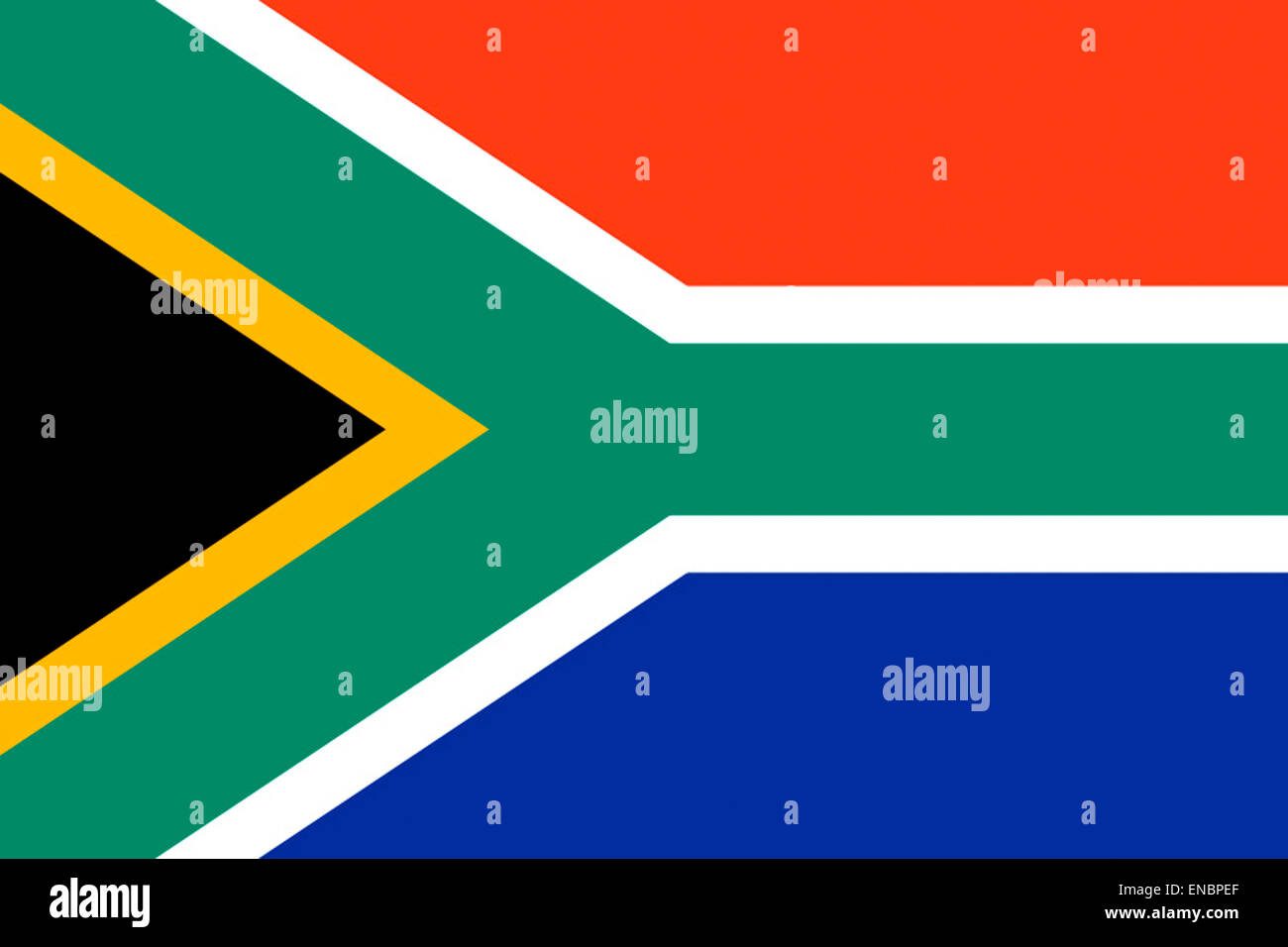 National flag of the Republic of South Africa. - Stock Image