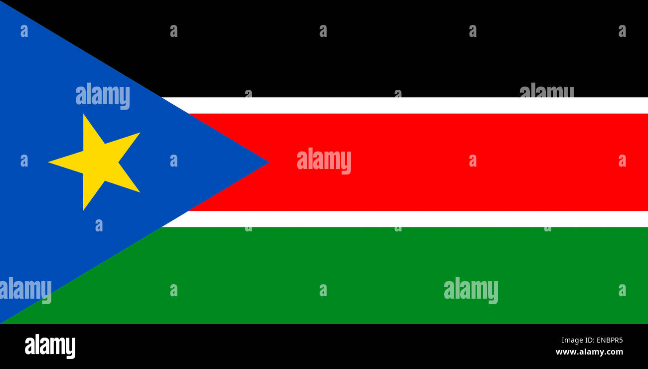 Flag of the Republic of South Sudan. - Stock Image