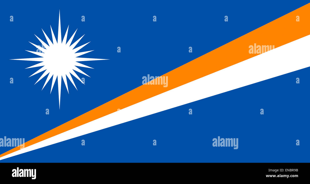 Flag of the Republic of the Marshall Islands. - Stock Image