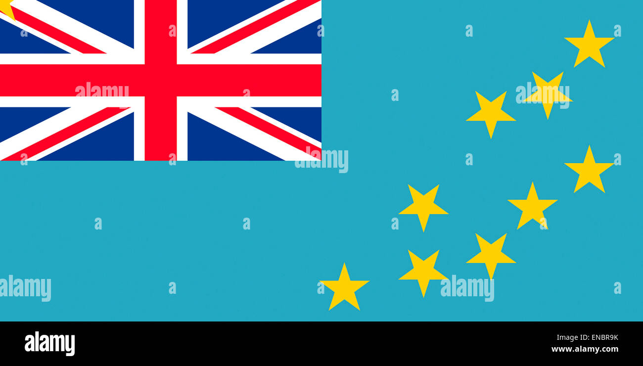 Flag of Tuvalu - Commonwealth of Nations. - Stock Image
