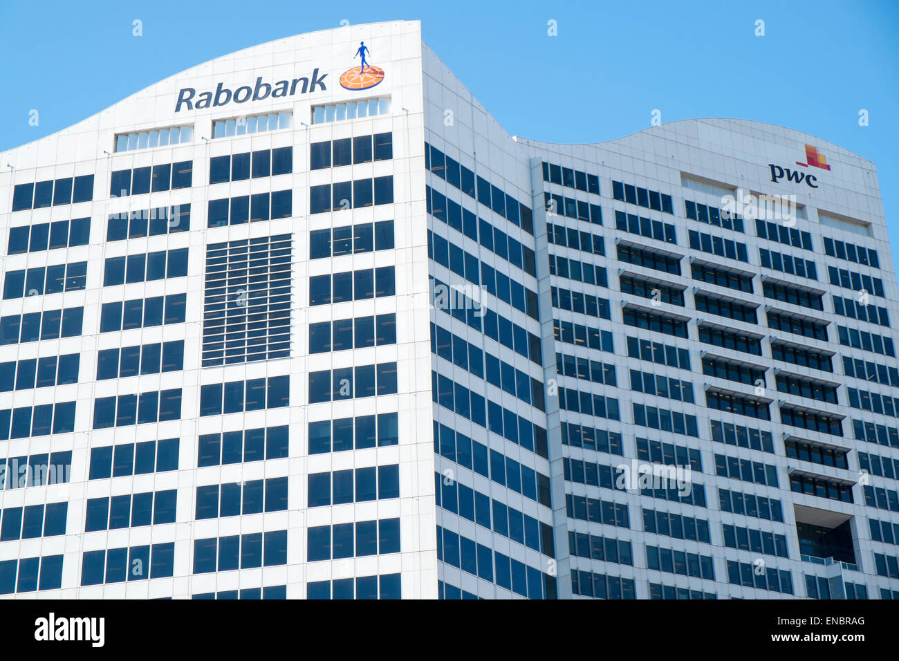 Rabobank and Pwc pricewaterhouse coopers offices in Darling harbour,sydney - Stock Image