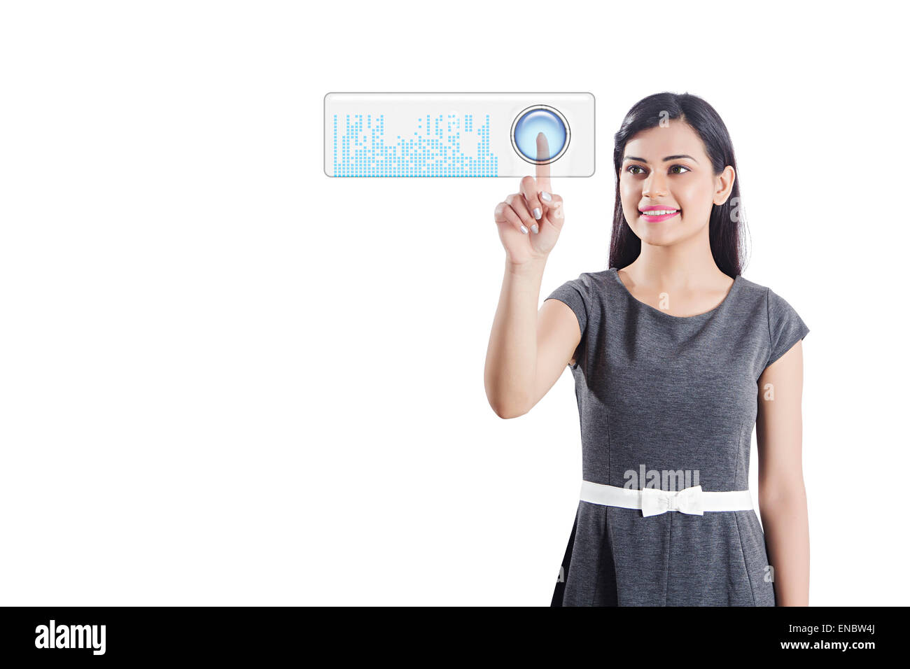 1 indian Business woman Working Software Technology - Stock Image