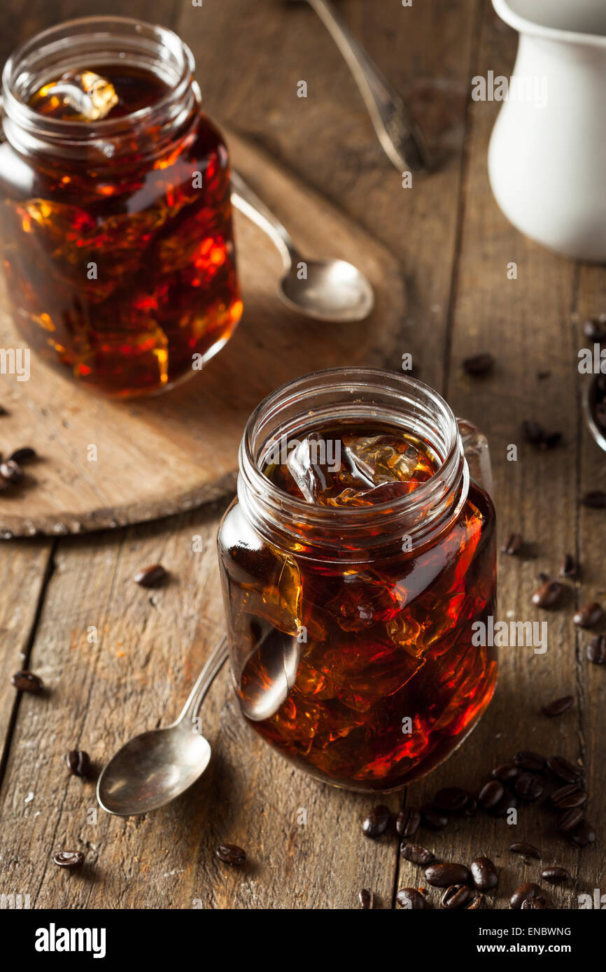 Homemade Cold Brew Coffee to Drink for Breakfast Stock Photo
