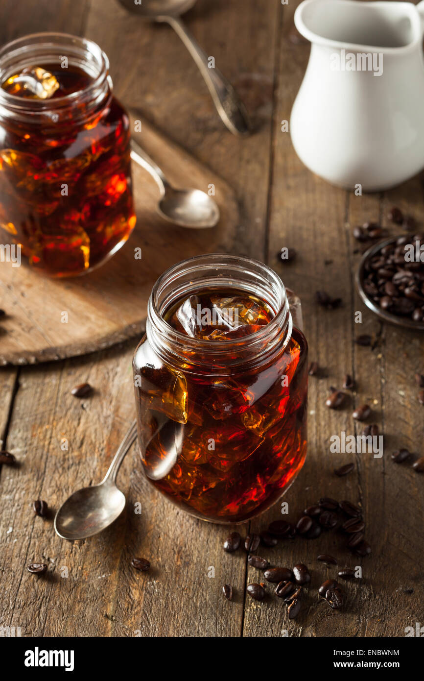 Homemade Cold Brew Coffee to Drink for Breakfast - Stock Image