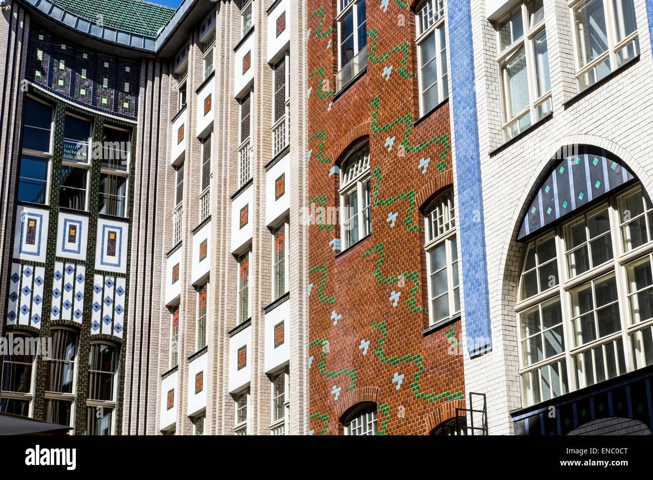 Hackesche Höfe, Berlin central, courtyards, facades, - Stock Image