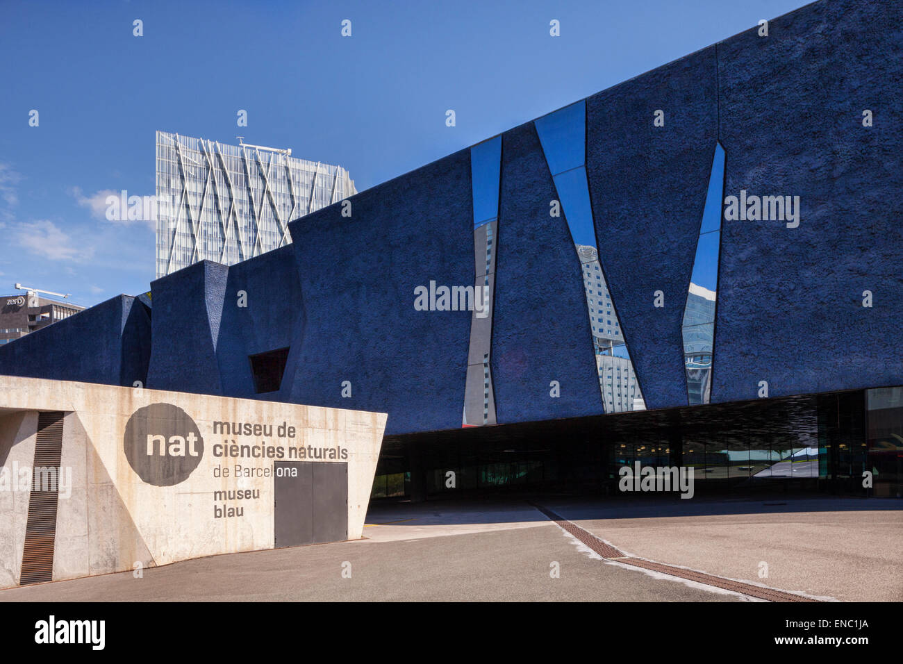 The Museum of Natural Sciences, or the Blue Museum, The Forum, Barcelona, Spain. - Stock Image