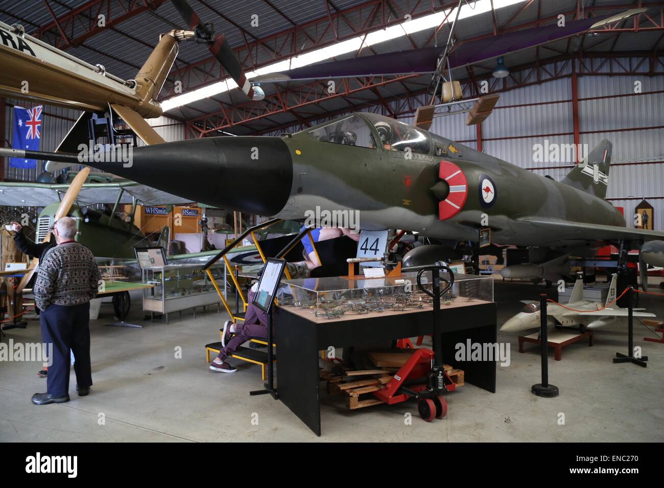 The Dassault Mirage at the Australian Aviation Museum Bankstown. It was the first supersonic aircraft to serve with - Stock Image