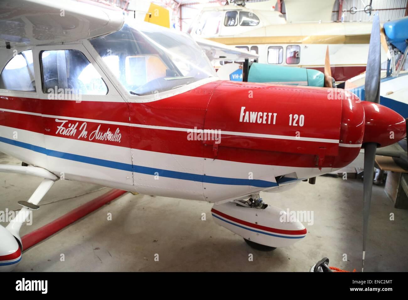 A Fawcett 120 monoplane at the Australian Aviation Museum Bankstown. - Stock Image