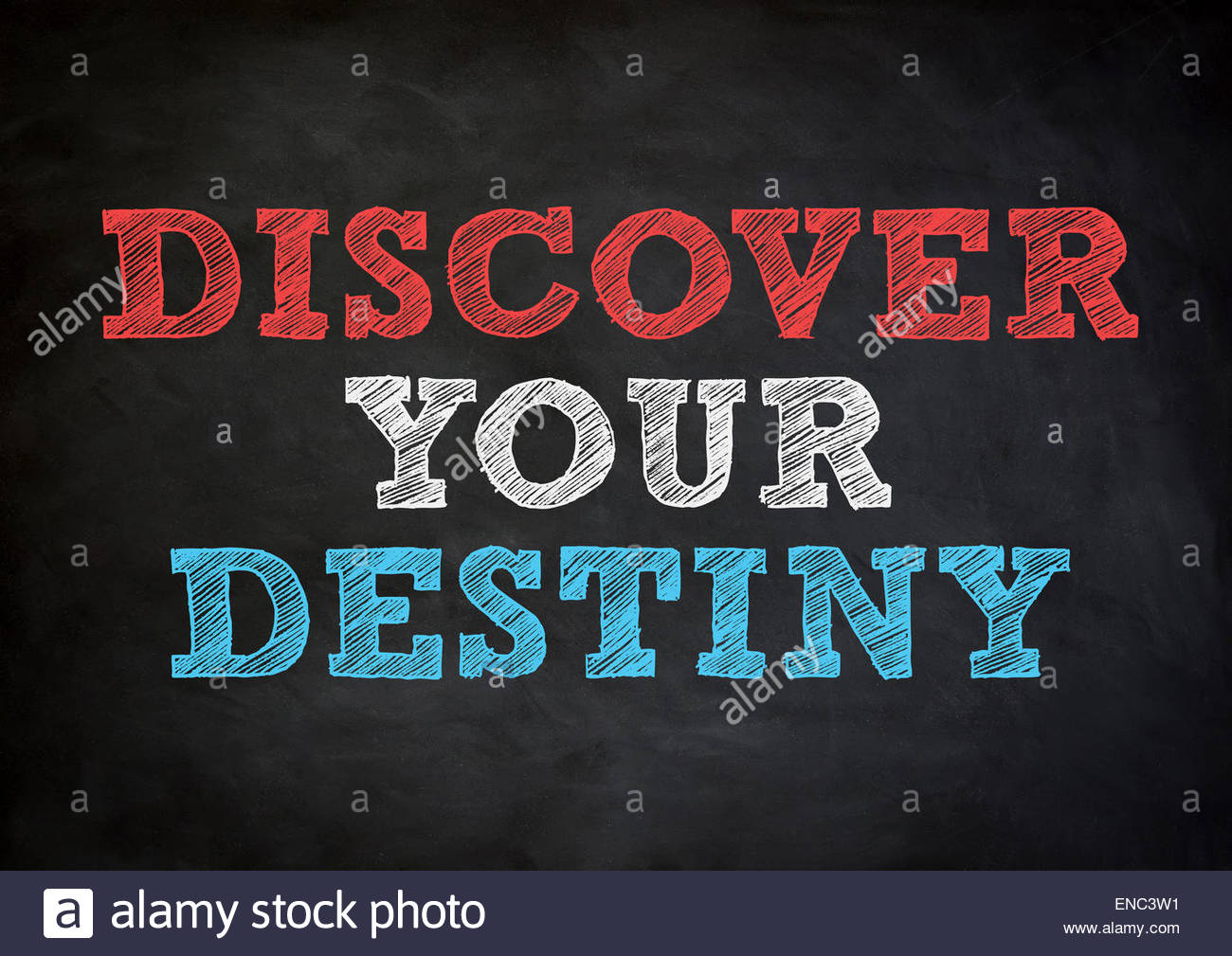 discover your destiny - Stock Image