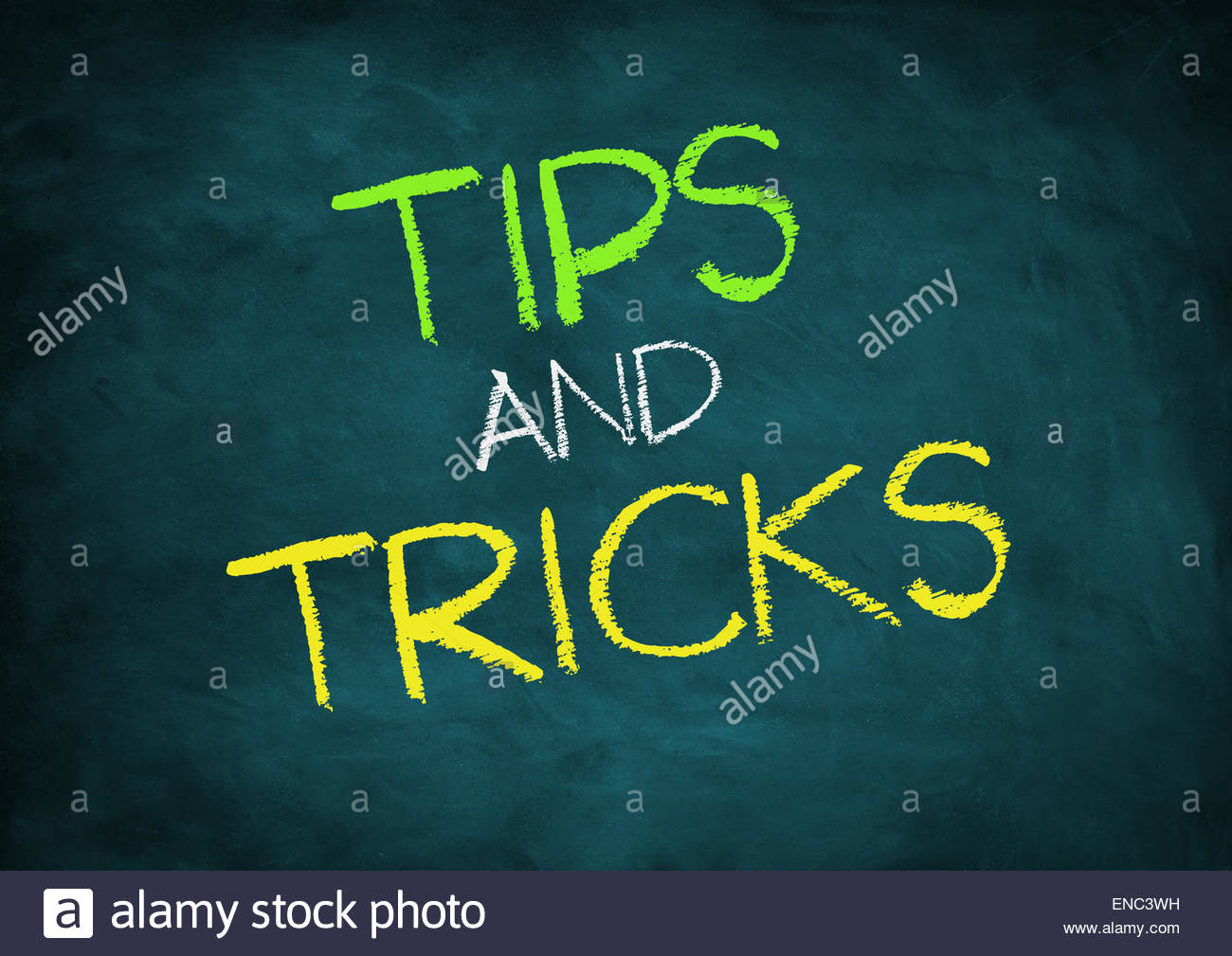 Tips and Tricks - Stock Image