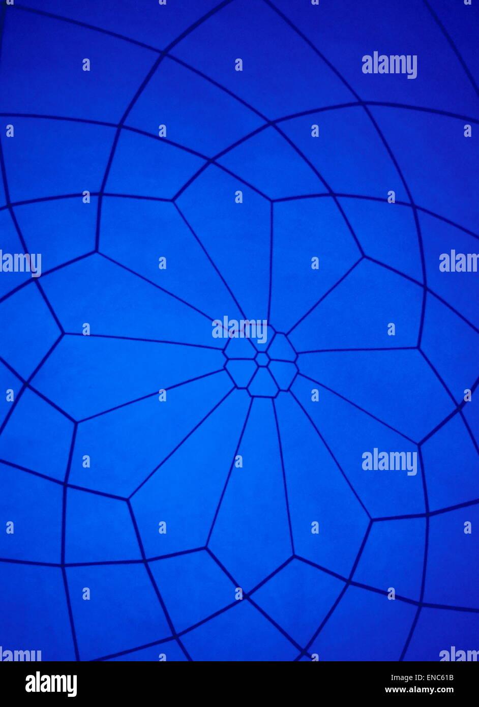 Blue web, irregular four sided shapes - Stock Image