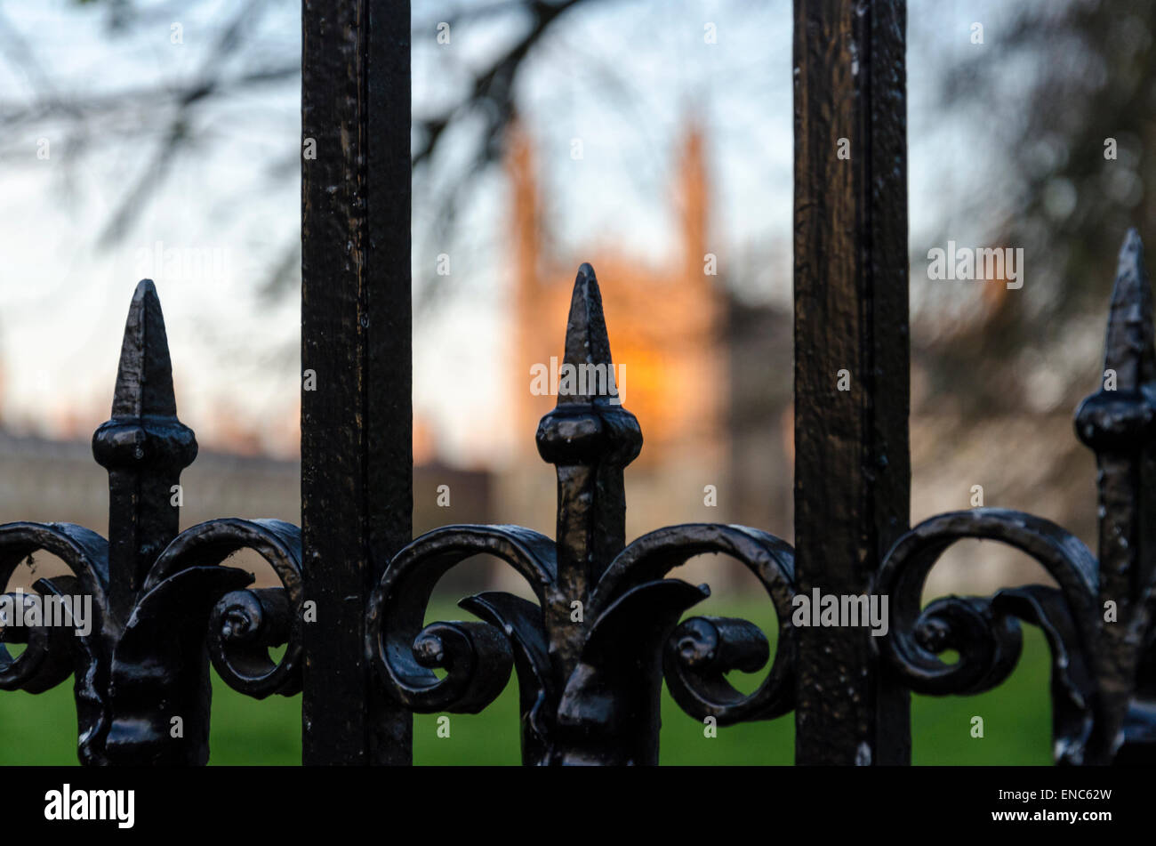 King's College Chapel at sunset, Cambridge - Stock Image