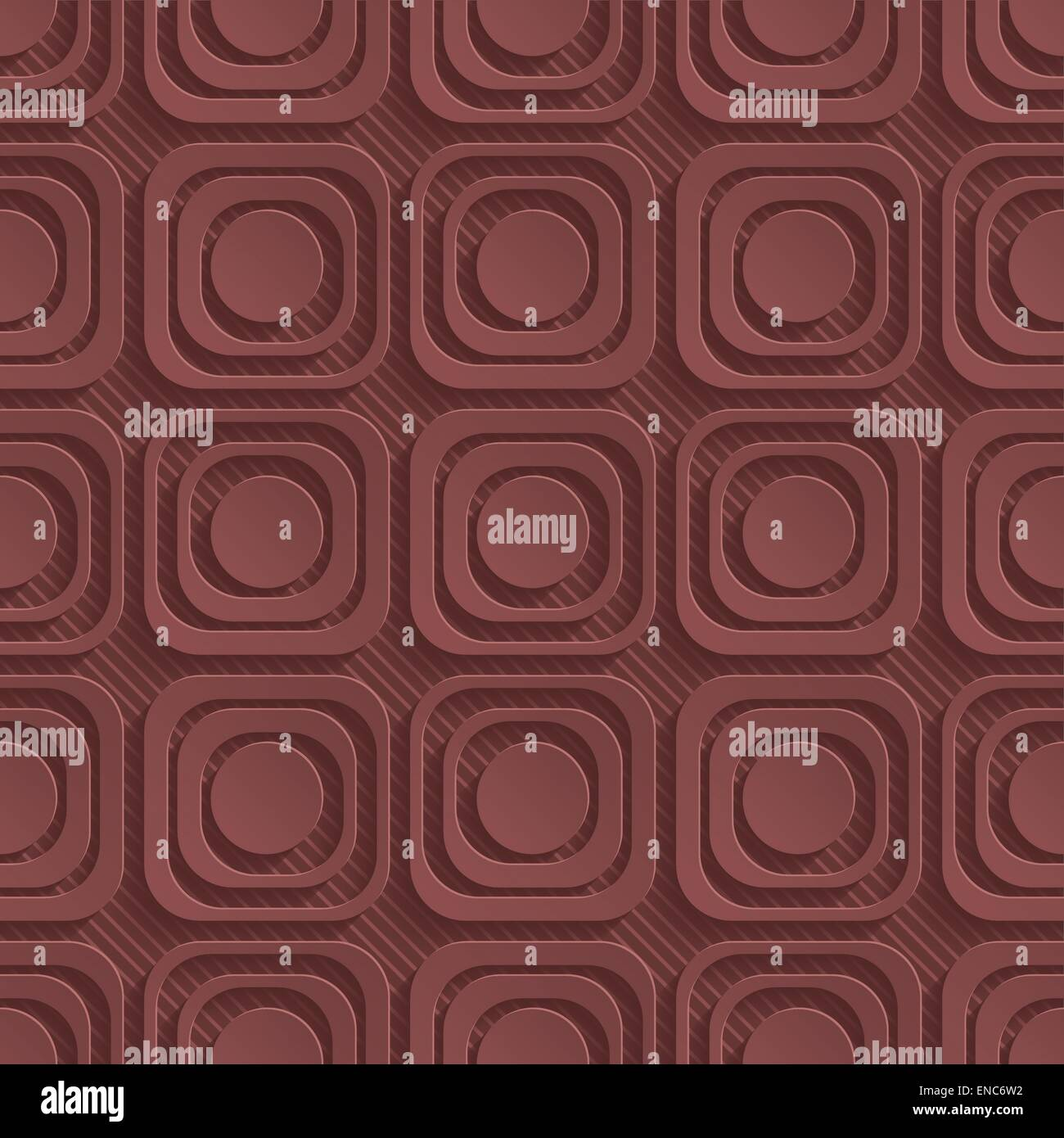 Marsala color perforated paper. Seamless (tileable) 3d background.  Editable vector EPS10. See similar patterns Stock Vector