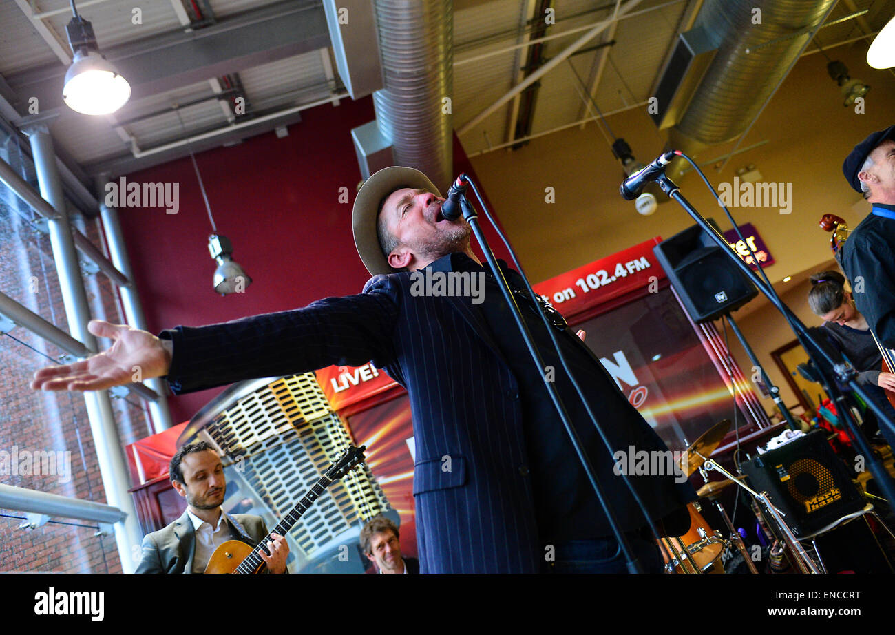 Derry Jazz Festival, Londonderry, Northern Ireland - 2 May 2015. Derry Jazz Festival, Londonderry, Northern Ireland - Stock Image