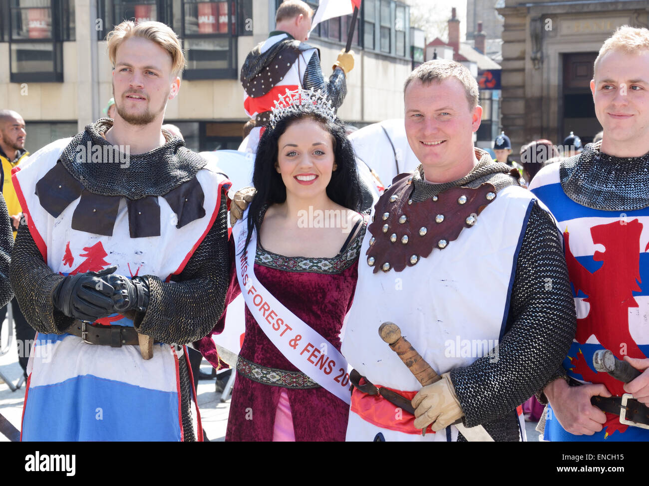 knights princess st george s day parade nottingham england