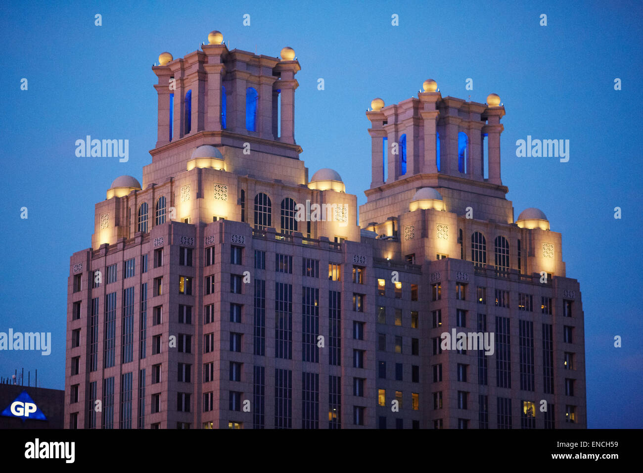 `Downtown Atlanta in Georga USA One Ninety One Peachtree Tower is a 235 m (771 ft) 50-story skyscraper in Atlanta, - Stock Image