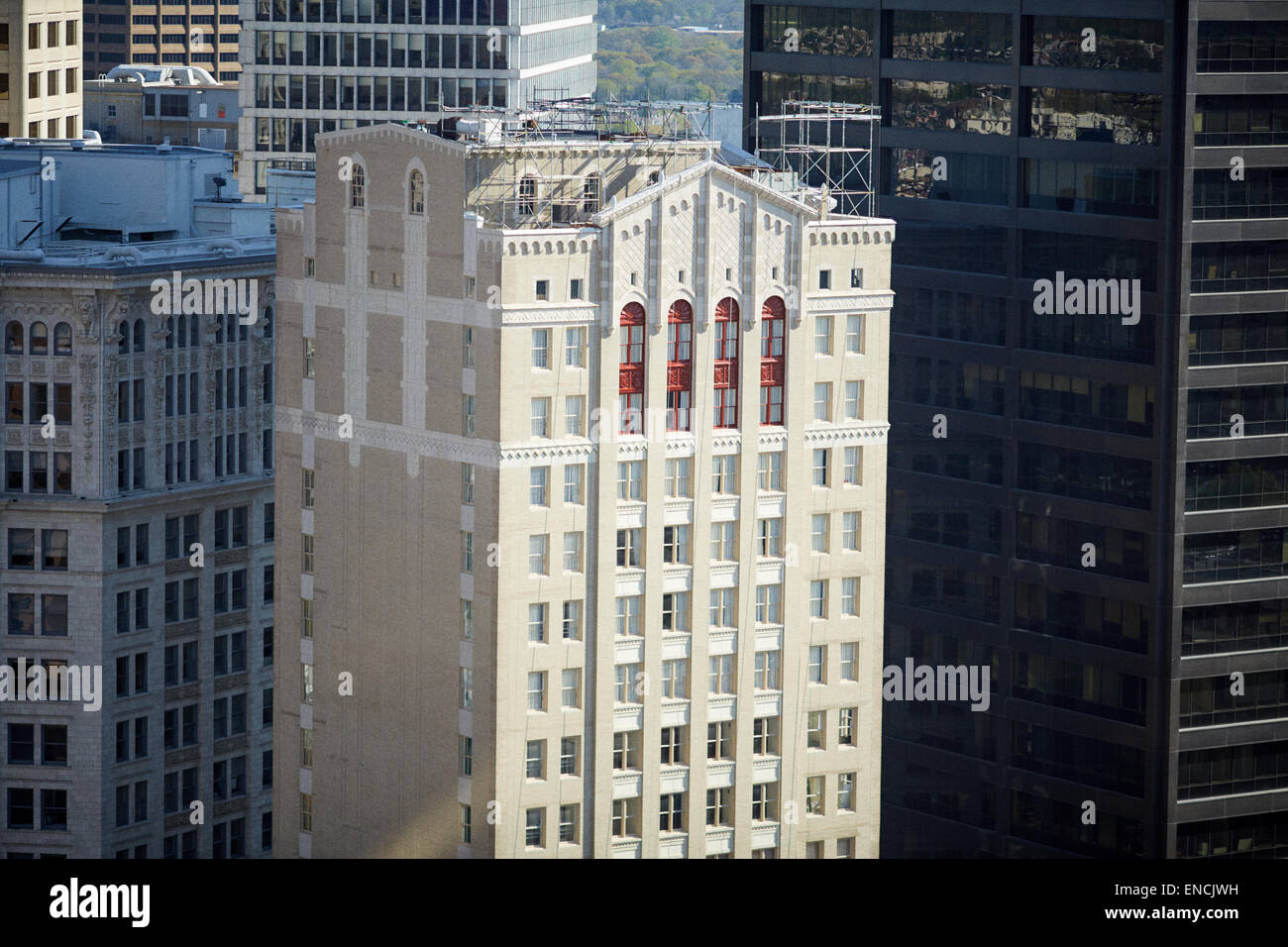 Downtown Atlanta in Georgia USA   Picture: The Residence Inn Atlanta Downtown is a 21-story hotel tower Stock Photo