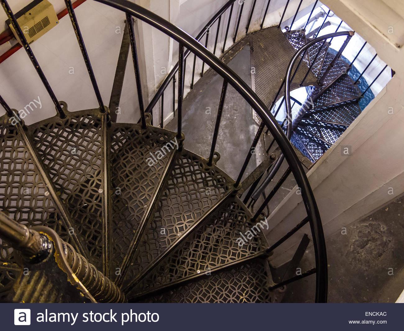 St Paul's Stair Case to Golden Tower London England Stock Photo
