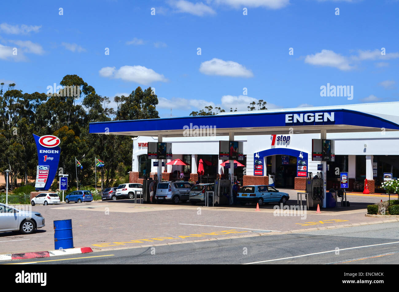 Engen petrol station in South Africa - Stock Image