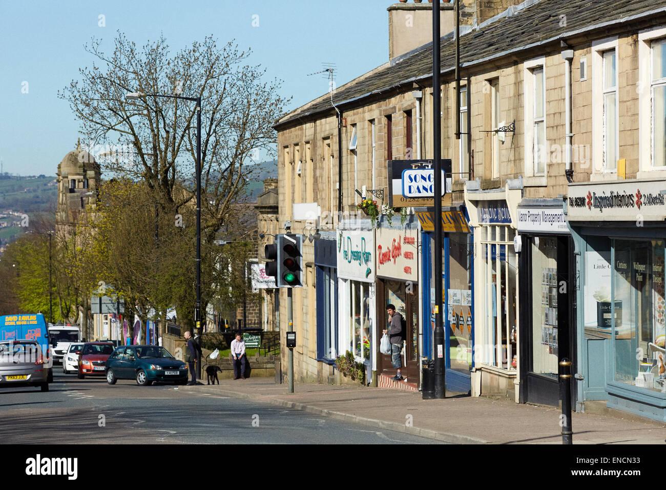 Albert road Colne lancashire - Stock Image
