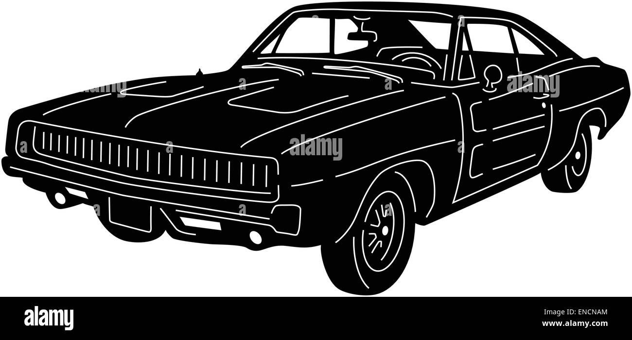 Car Silhouette Detailed Stock Vector Art Illustration Vector