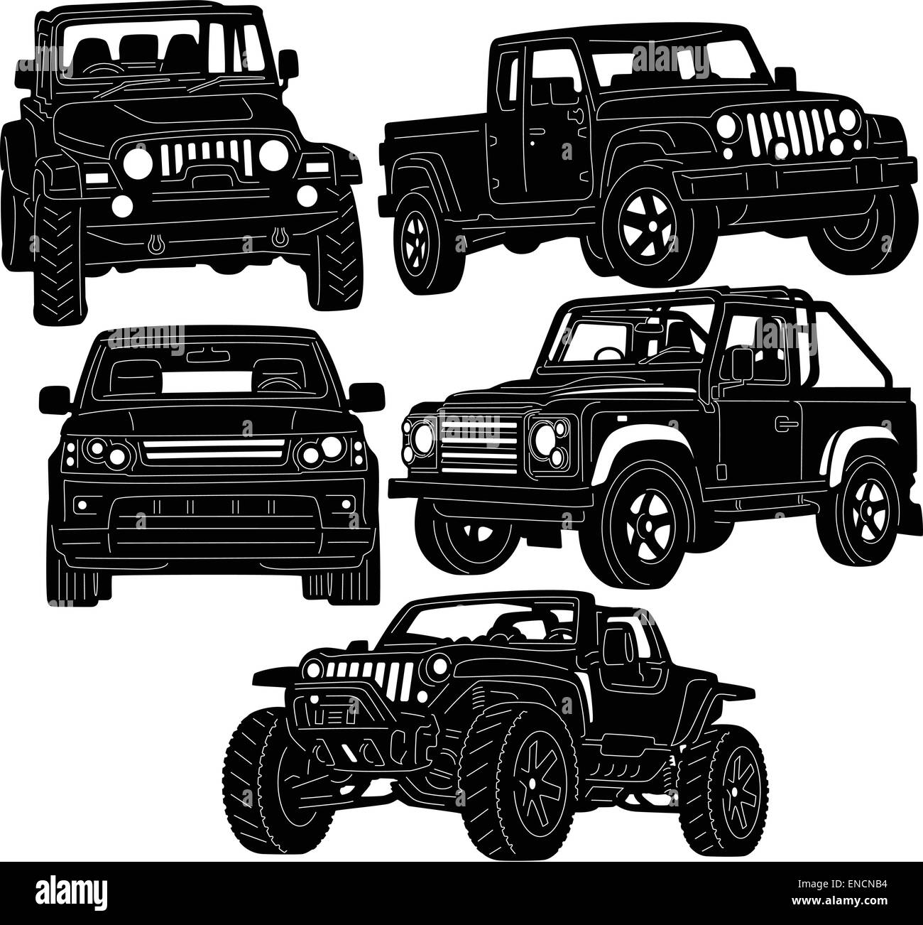 Ford f 150 stock vector images alamy 4x4 truck silhouette stock vector freerunsca Choice Image