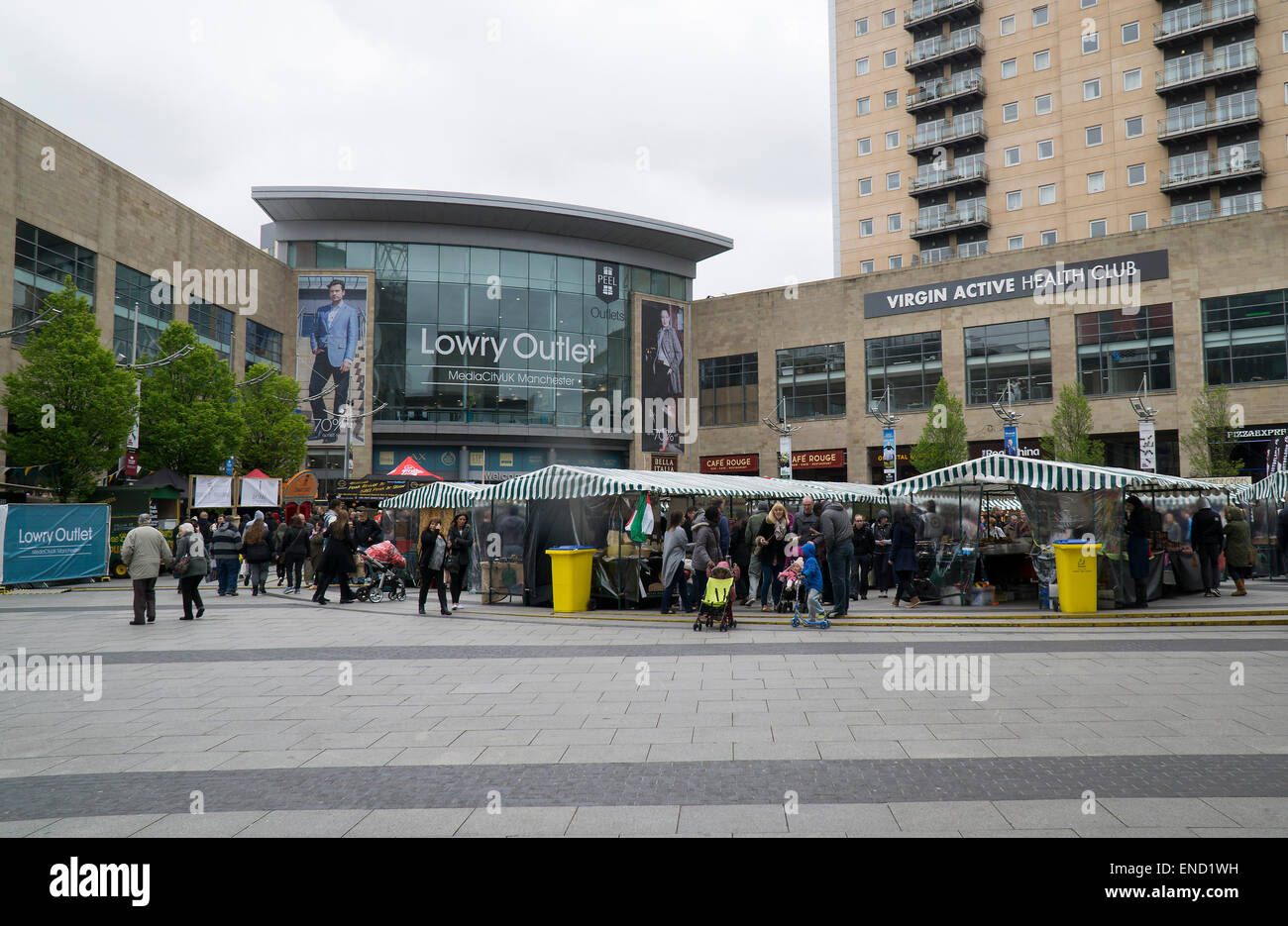 The Lowry Shopping Centre - Salford Uk - Stock Image
