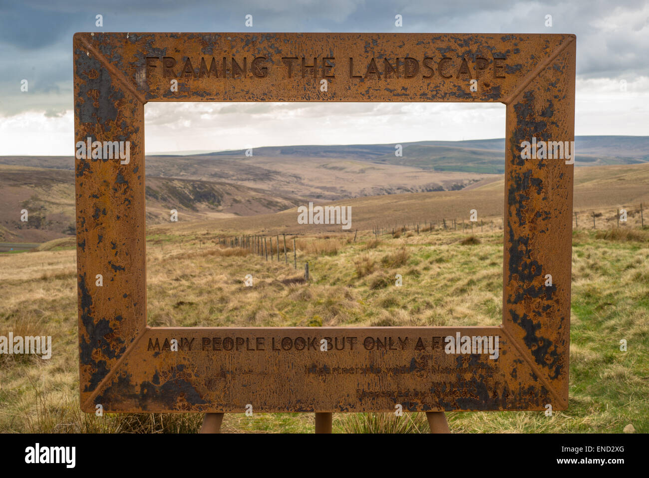 Framing the landscape\', an art project by Ashley Jackson at Holme ...