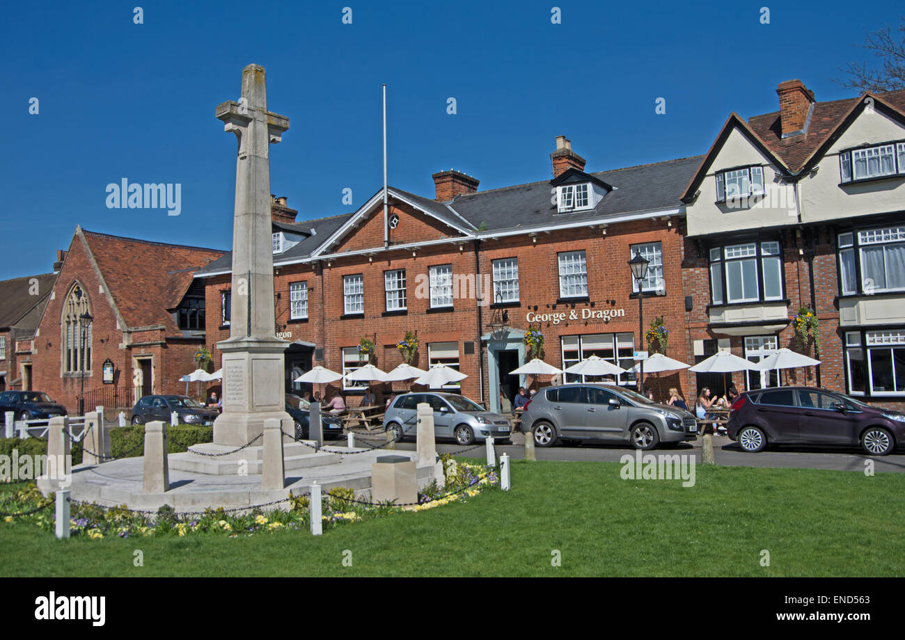 Marlow, Memorial Buckinghamshire, Stock Photo