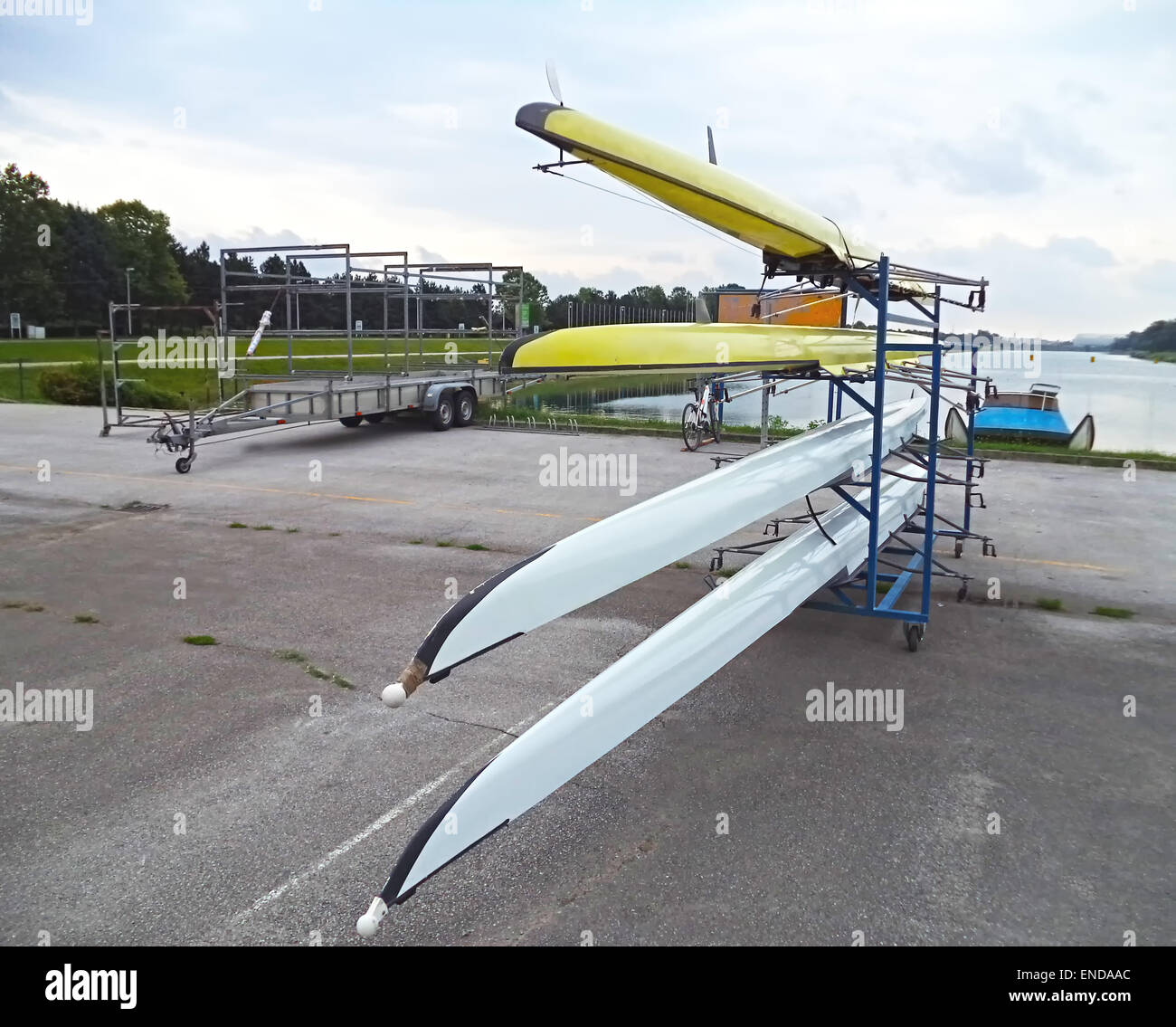 Rowing boats - Stock Image