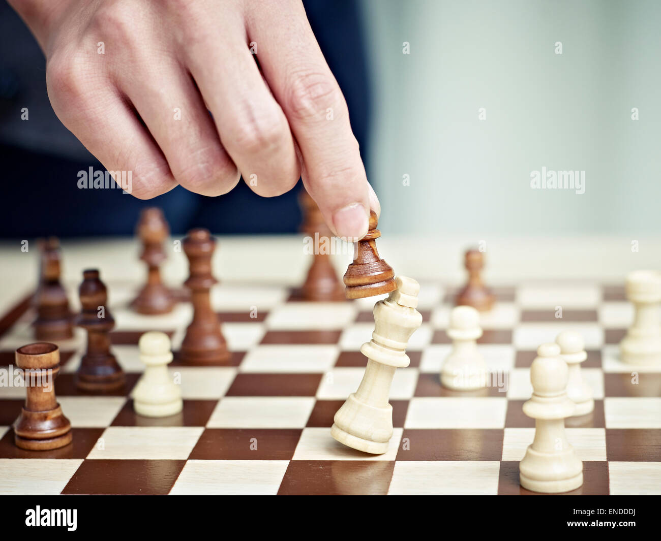 checkmate by a pawn - Stock Image
