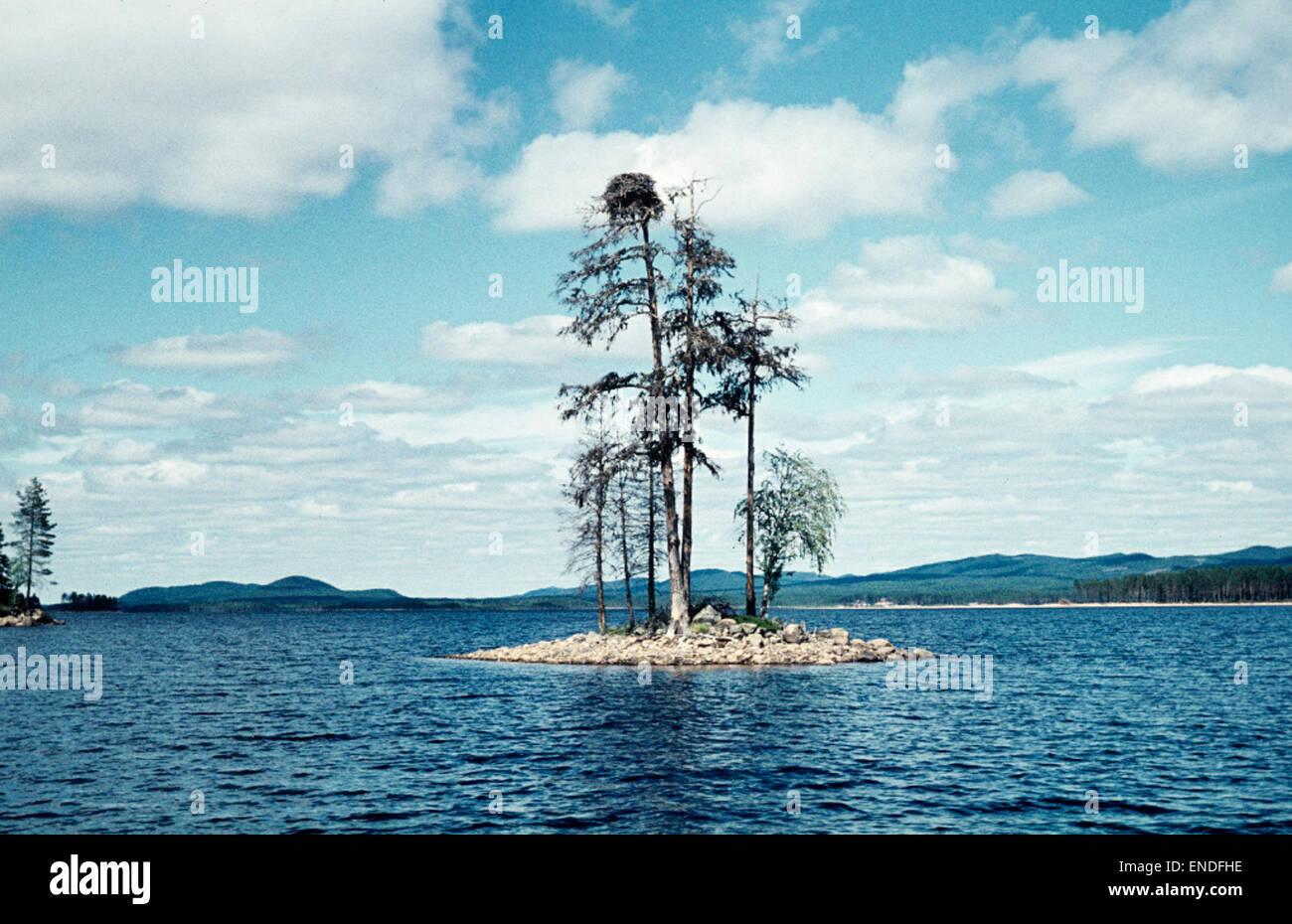 Lake Tisjön, Dalarna, Sweden - Stock Image