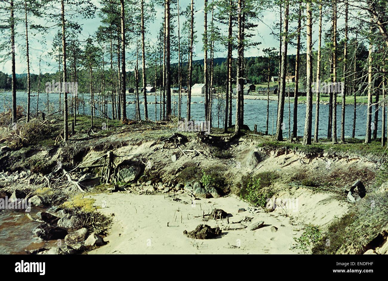 Stone Age settlement at Tisjölandet, Dalarna, Sweden - Stock Image