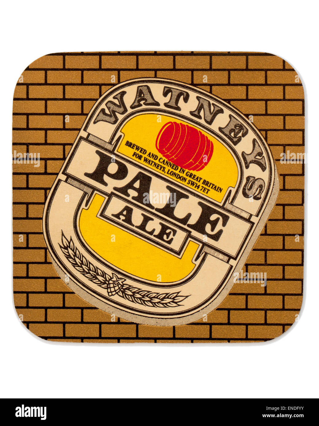 Vintage British Beer Mat Advertising Watneys Pale Ale Beer Stock Photo
