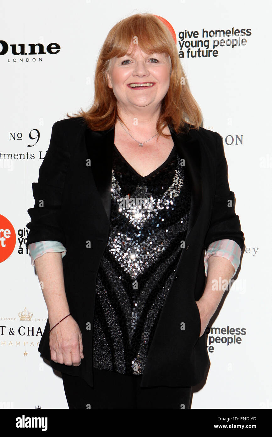 London. 30th Apr, 2015. Lesley Nicol attends the Downton Abbey Ball at the Savoy hotel on April 30, 2015 in London. - Stock Image