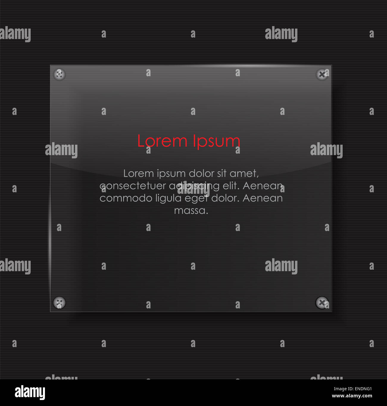 Glass Transparency Frame Vector Illustration EPS10 - Stock Image