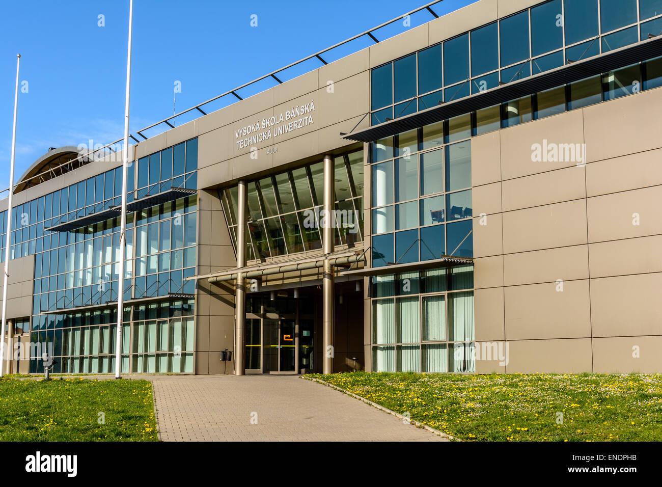 Building of Technical University of Ostrava Czech republic - Stock Image