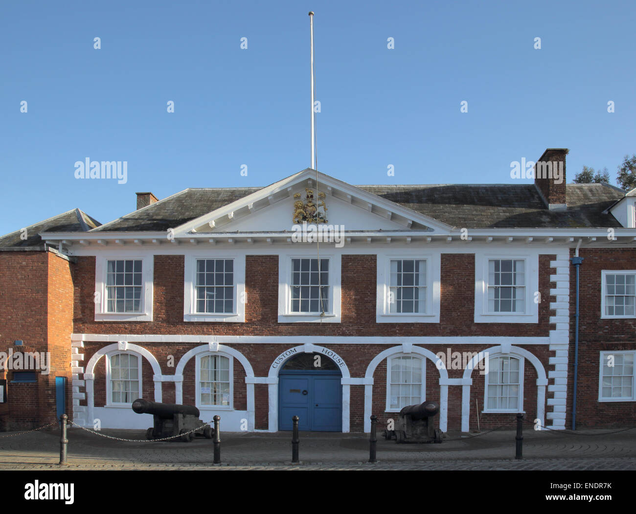 custom house exeter quay on the river exe and the exeter canal - Stock Image