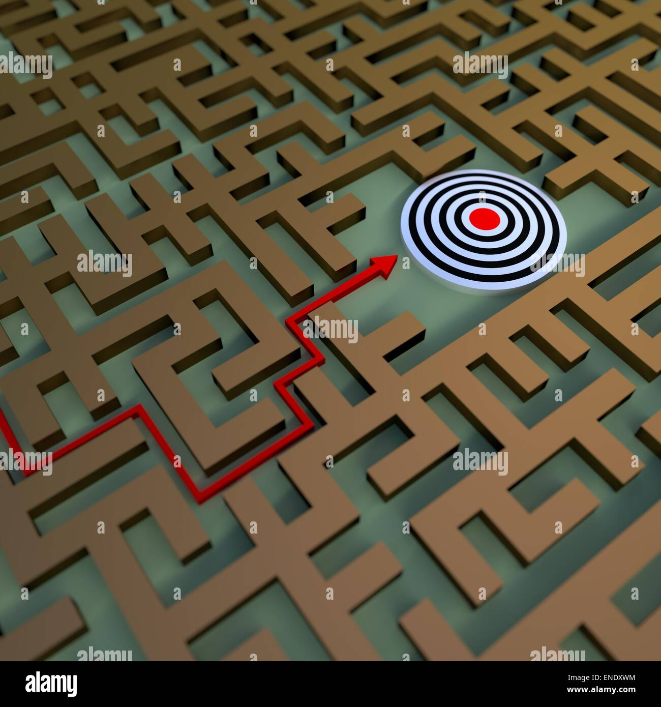 path to the target - Stock Image