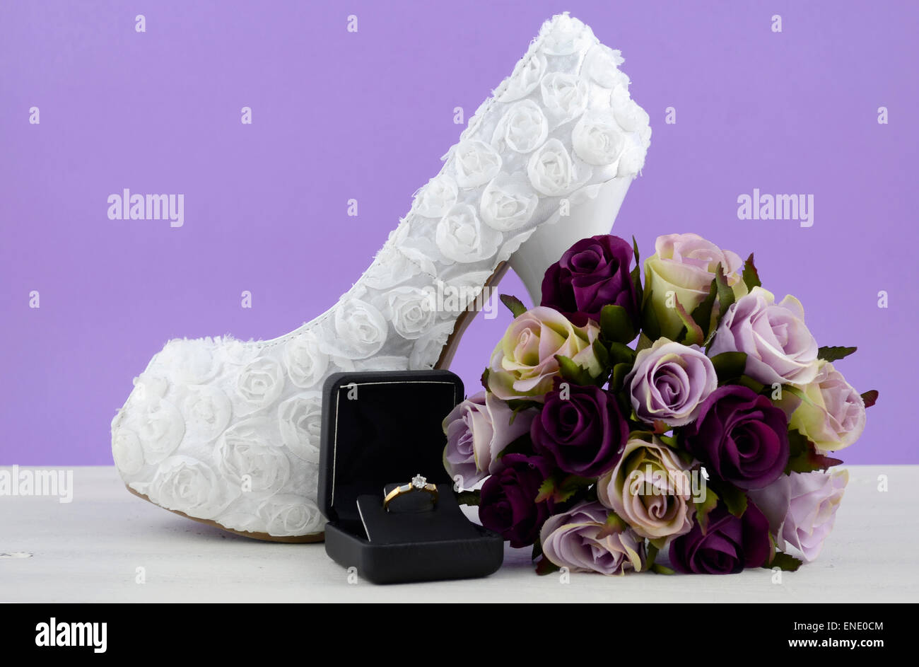 Wedding Theme White Floral Bridal Shoes With Flowers On Shabby Chic