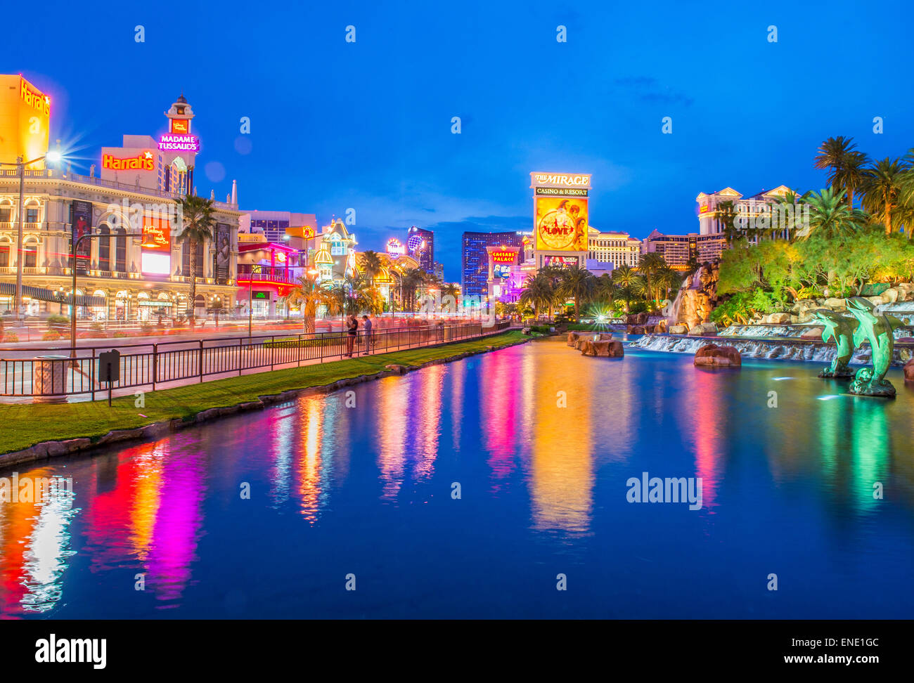 View of the Las Vegas Strip - Stock Image