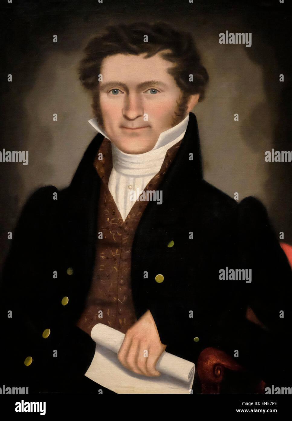 Gentleman of Squire Williams House 1829 Erastus Salisbury Field - Stock Image