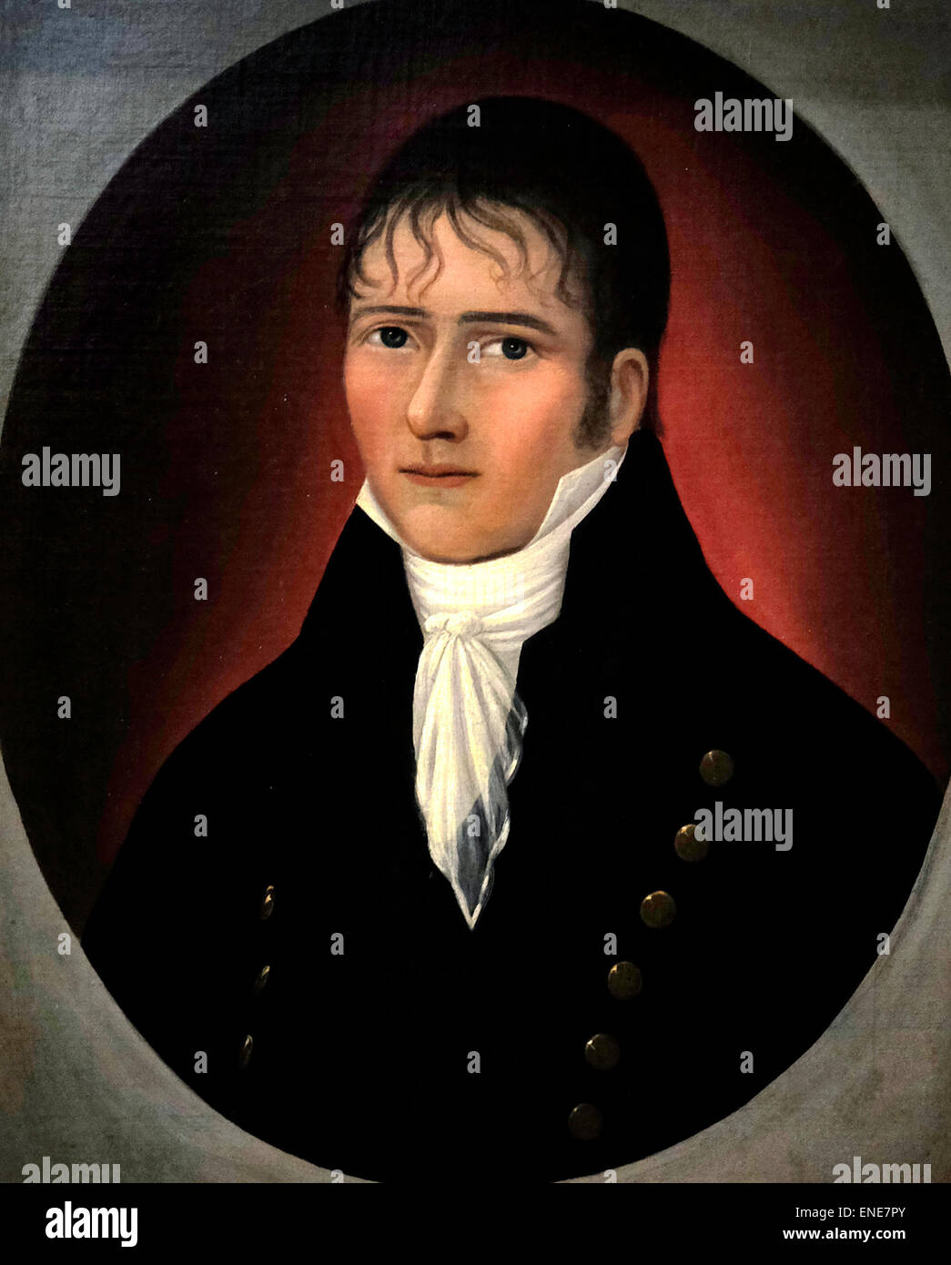 Portrait of Sea Captain John Murphy circa 1810 Joshua Johnson - Stock Image