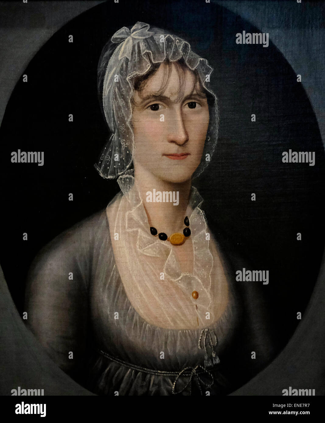 Portrait of Mrs Barbara Baker Murphy (Wife of Sea Captain) about 1810 Joshua Johnson - Stock Image