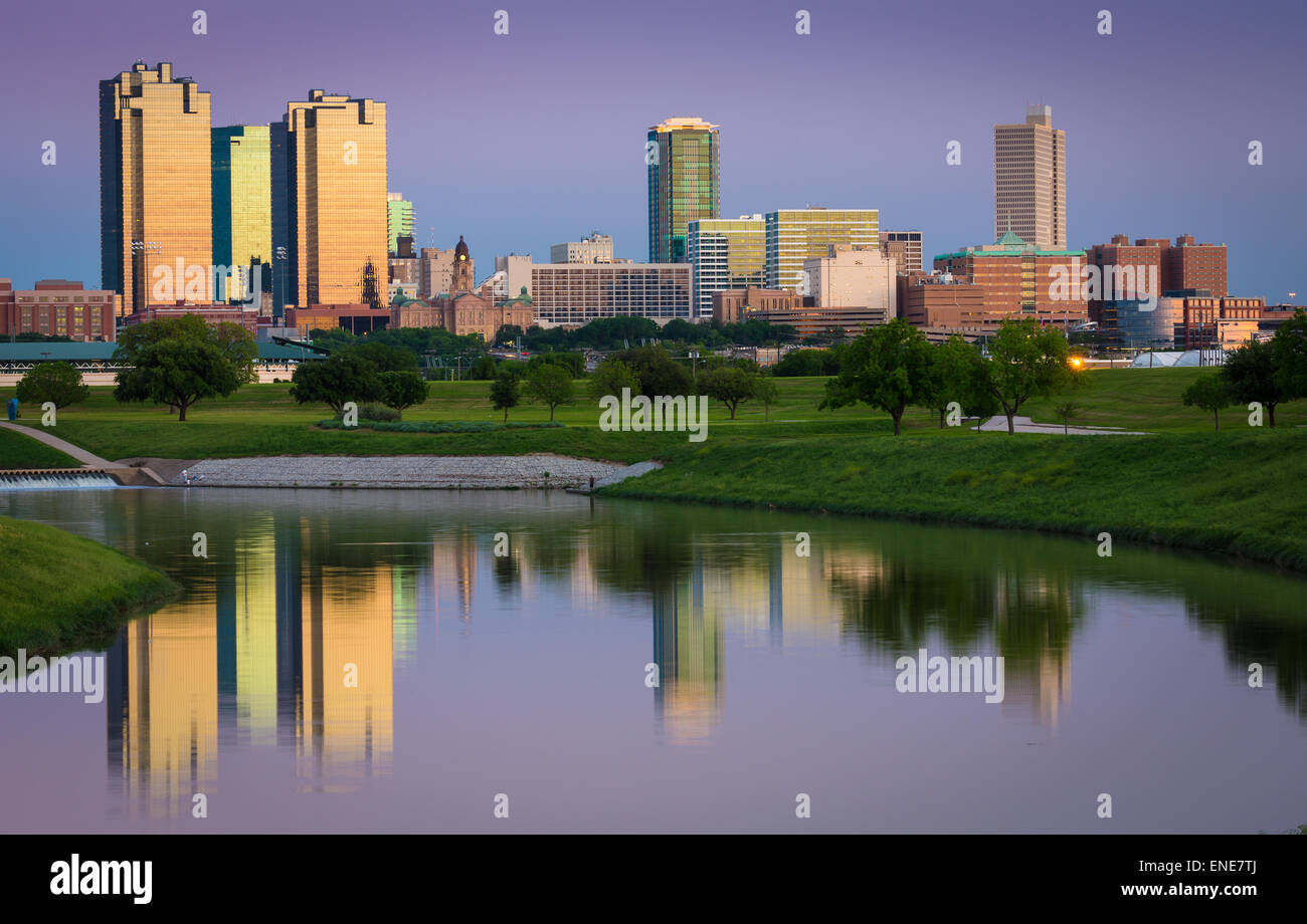Fort Worth is the 17th-largest city in the United States of America and the fifth-largest city in the state of Texas. - Stock Image