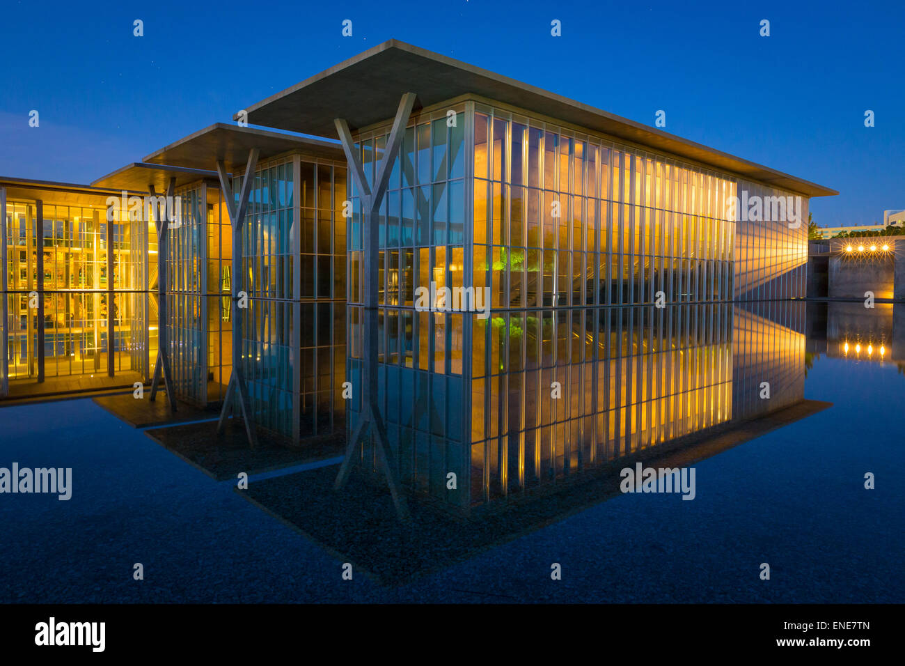 Modern Art Museum in Fort Worth, Texas - Stock Image