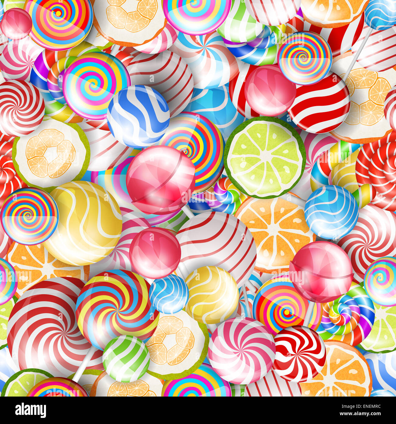 colorful candy - Stock Image